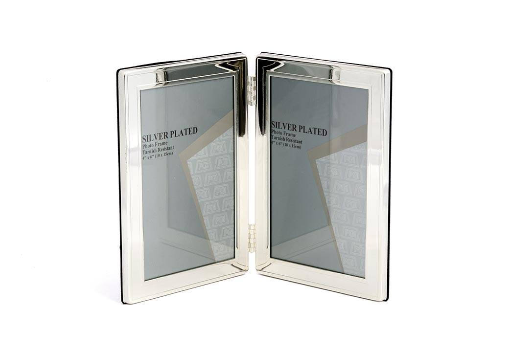 Silver Plate Duplo Moldura Grossa 10x15