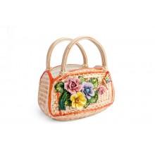 Bolsa com Mix de Flores e Borboleta
