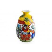 Vaso Oval Amarelo