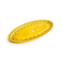 Prato Oval 64cm. Amarelo