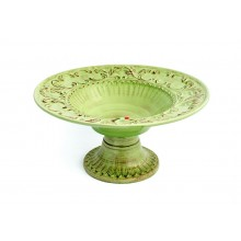 Fruteira de Cerâmica Verde