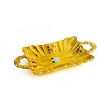 Bandejinha c/ Alça de Cerâmica Amarela
