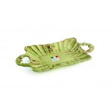 Bandejinha c/ Alça de Cerâmica Verde