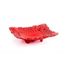 Prato Quadrado de Cerâmica Vermelha