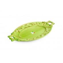 Prato Oval c/ Alças Verde